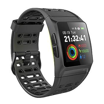 iKeeGan - Reloj de pulsera GPS para correr con monitor de ritmo cardíaco en tiempo real