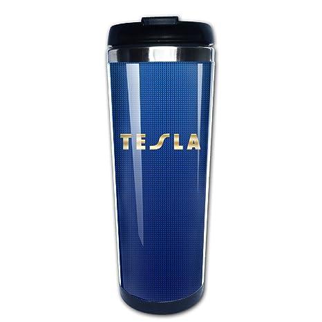 Tesla banda oro Logo viaje vaso