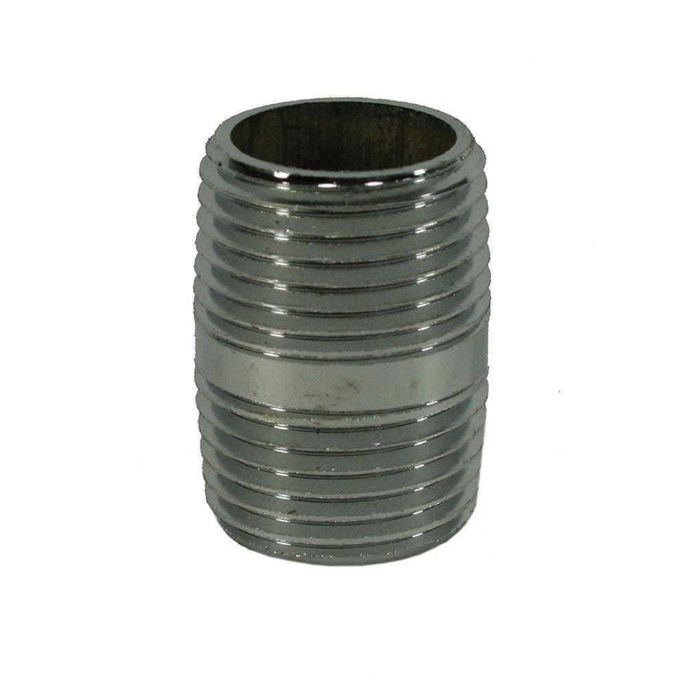 Jones Stephens Corp - 1/4 X Close Red Brass Pipe Nipple