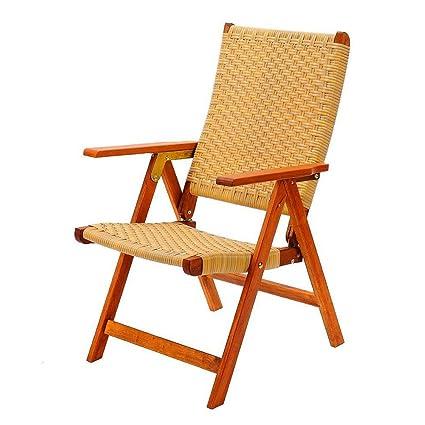 Amazon.com: Plegable de madera de sillón con brazos al aire ...