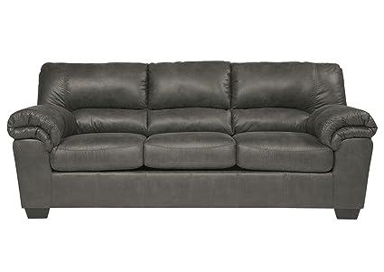 Pleasing Amazon Com Ashley Bladen Full Faux Leather Sleeper Sofa In Machost Co Dining Chair Design Ideas Machostcouk