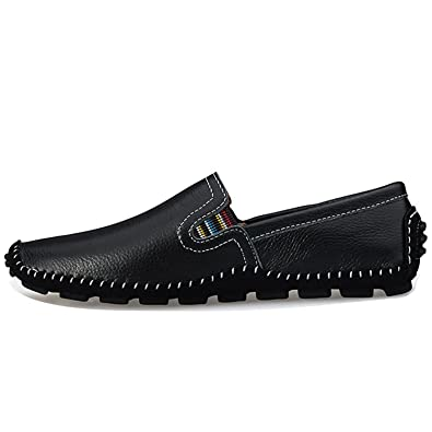 Robert Reyna Fashion Mens Loaferss Slip on Driving Shoes