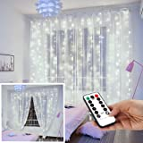 String Lights Curtain,USB Powered Fairy Lights for Bedroom Wall Party,8 Modes & IP64 Waterproof Ideal for Outdoor…