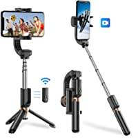 Apexel Bluetooth Selfie Stick, Handheld Extendable Phone Tripod with Single Axis Gimbal Anti-Shaking Stabilizer for iPhone 11 Pro/XS Max/XS/XR/X/8/7/6, Samsung Galaxy/Note, Google Pixel, Oneplus
