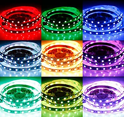 SPARKE LED Strip Lights Non-Waterproof Flexible Color Changing RGB SMD5050 LED Tape Light for Home Kitchen Car Bar Party Ceiling Indoor