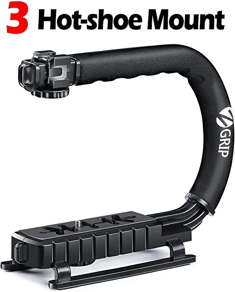 Zeadio Estabilizador portátil con 3 zócalo accesorio para Canon ...