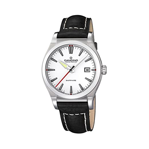 Candino 4439/1 - Reloj de caballero de cuarzo, correa de piel color negro: Candino: Amazon.es: Relojes