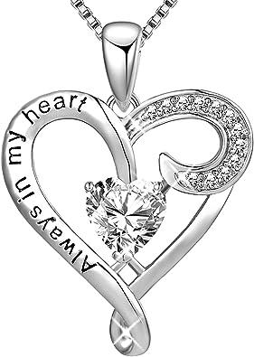 925 Sterling Silver Mom I Love You Forever Heart Pendant Women Bracelet Jewelry