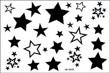 Fashion macho y hembra Tatuajes falsos estancas estrellas Star ...