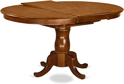 PORT7-SBR-C 7 PC Dining room set-Oval Dining Table with Leaf and 6 Dining Chairs