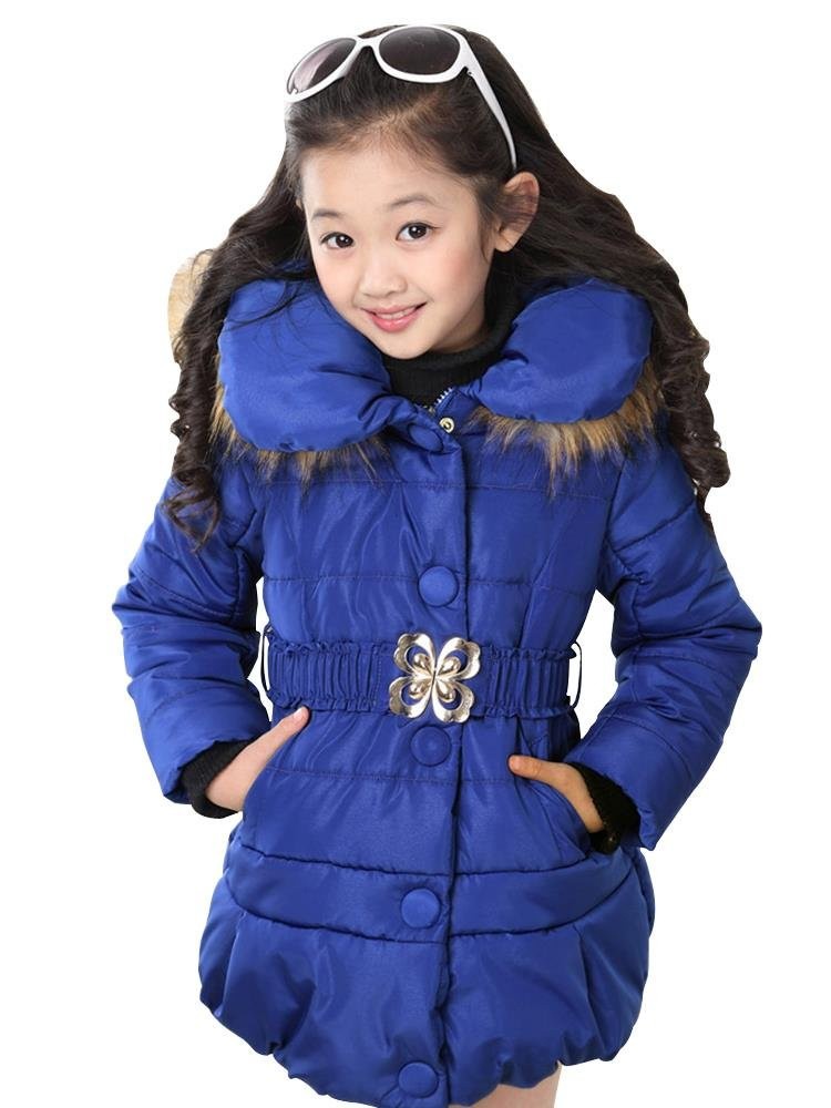 Phorecys Girl's Winter Cotton Coat Jacket Parka Outwear