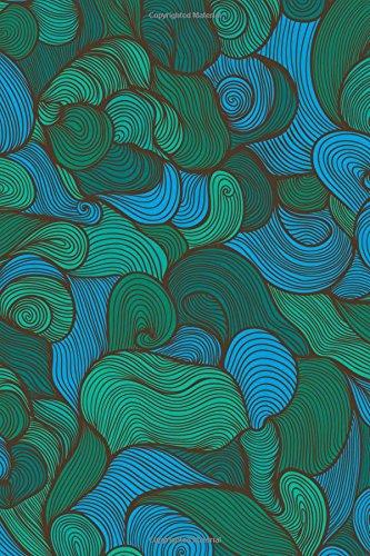 Sketchbook: Swirls (Green) 6x9 - BLANK JOURNAL NO LINES - unlined, unruled pages (Spirals & Swirls Sketchbook Series)