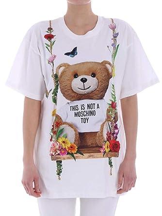 0f92cddff630 Moschino-T-Shirt in Cotone V0705  Amazon.de  Bekleidung