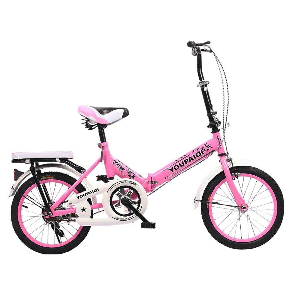 学生折りたたみ自転車, 子供用折りたたみ自転車 折りたたみバイク子供 学生 高齢者の ≥8 の子供たち B07DK7N9Y1 20inch|ピンクA ピンクA 20inch