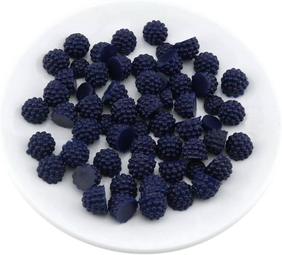 Gresorth 50 PCS Artificial Black Raspberry Slice Fake Strawberry Fruits Decoration Photography Props
