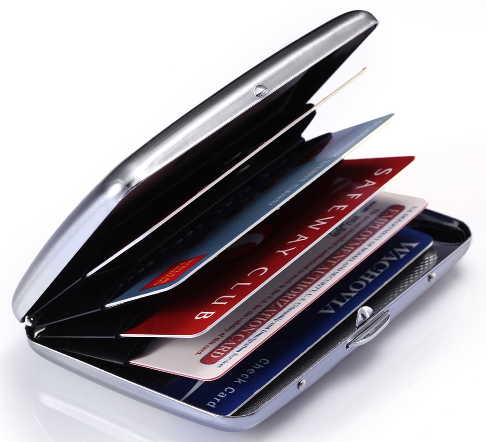 Amazon.com : Credit Card Holder - Silver Stainless Steel RFID ...