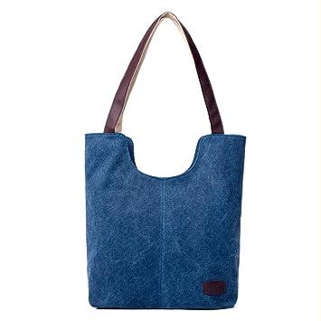 71a74713f5e Bolsos de Hombro Mujer ESAILQ Bandolera Lona Shoppers de Grande y Baratos  Azul para Niña K  Amazon.es  Equipaje