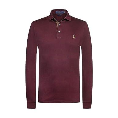 Polo Ralph Lauren - Polos Manches Longues Hommes - 710721148-006 - XXL  Bordeaux c59b7b0c661