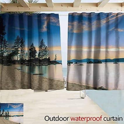 Amazon.com: AndyTours Cortina de puerta, paisaje paraíso ...