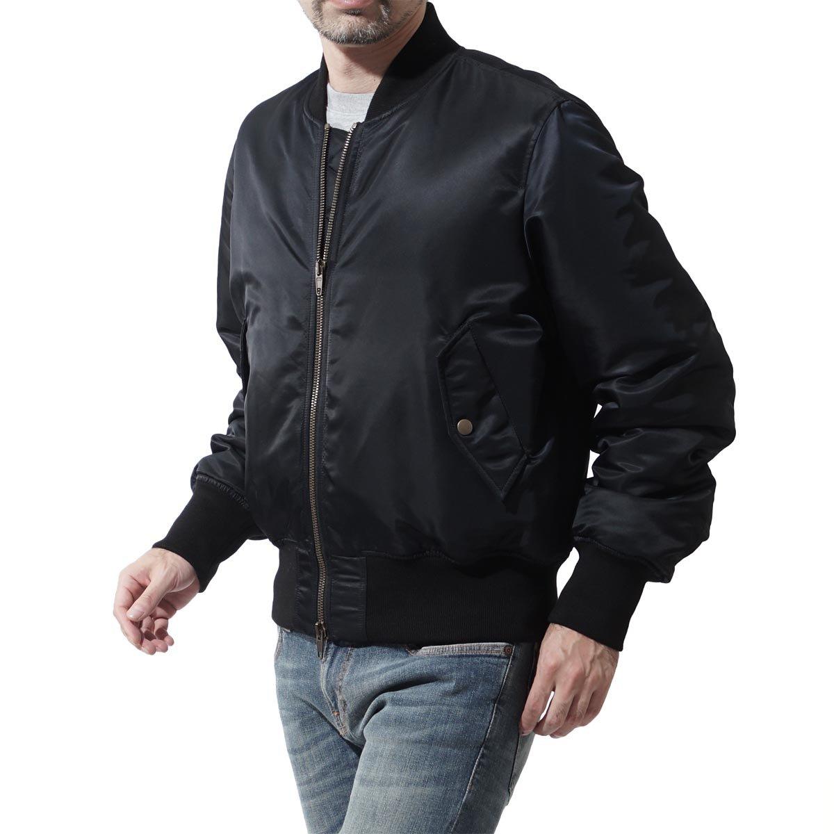 (バレンシアガ) BALENCIAGA 中綿入り ボンバージャケット [並行輸入品] B077XB7G1S 44|ブラック ブラック 44