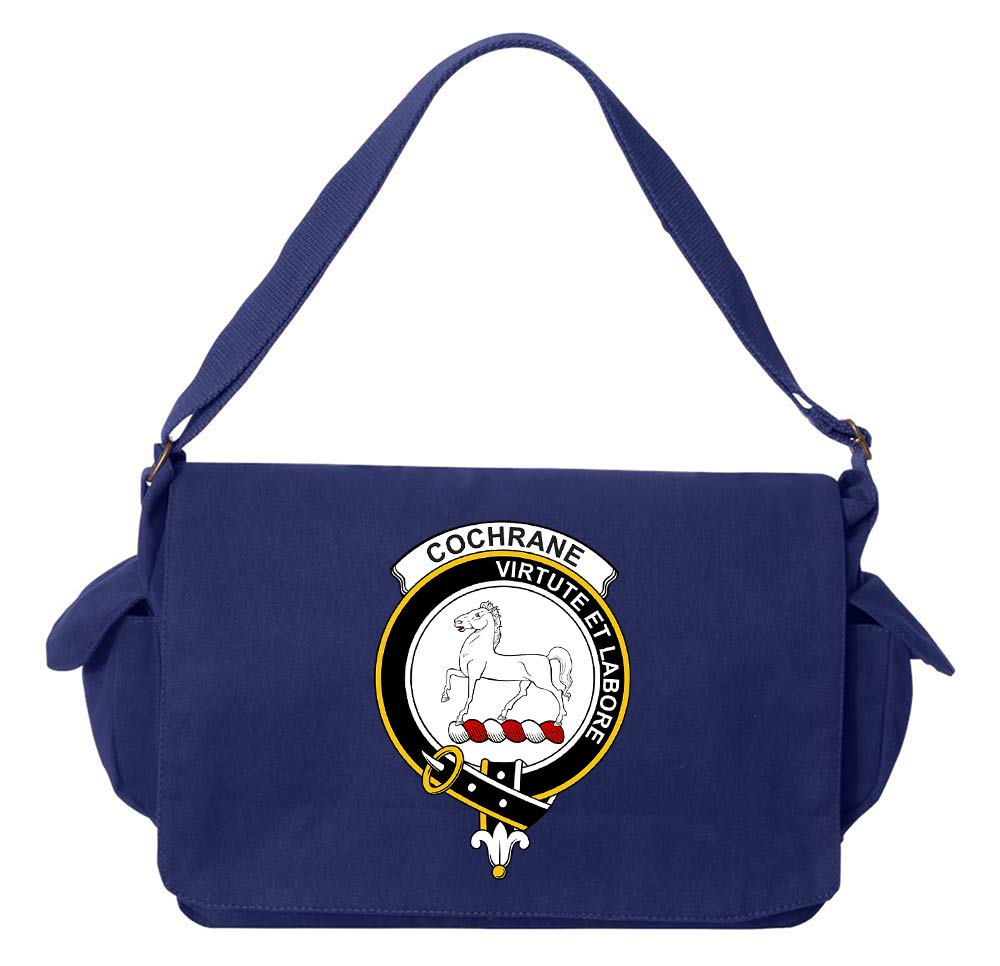 Tenacitee Scottish Clan Crest Badge Cochrane Green Brushed Canvas Messenger Bag