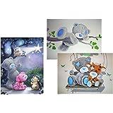 MagiDeal 3 Pcs. Diy 5d Diamond Painting Cross Stitch Pictures Bear