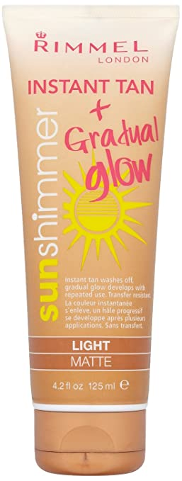 Rimmel Sunshimmer Instant Tan & Gradual Glow - Light Matte 125ml