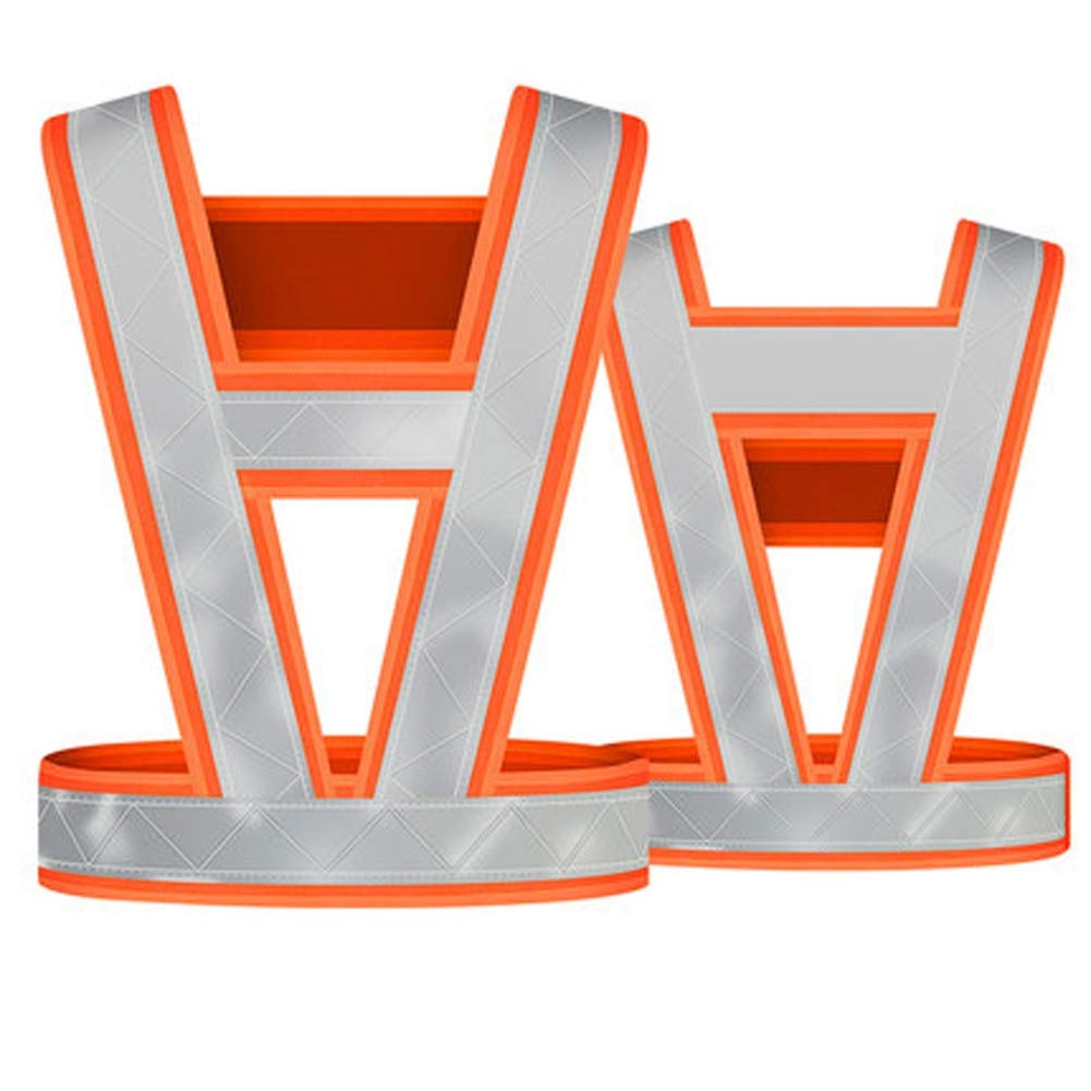 RYYAIYL Reflective Vest for High Visibility All Day and Night for Running, Biking and More, Unisex/20.1x15inches (Color : Orange)