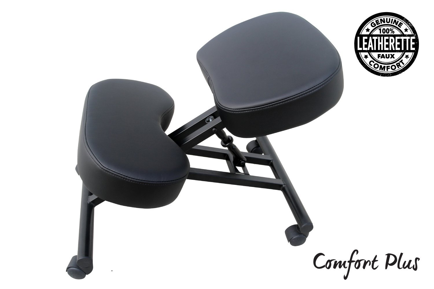 perfect posture chair. Amazon.com : The Comfort Plus Perfect Posture Chair | Kneeling Extra Padding And Ultra Soft Design, Black, Adjustable With Rollers Ergonomic T