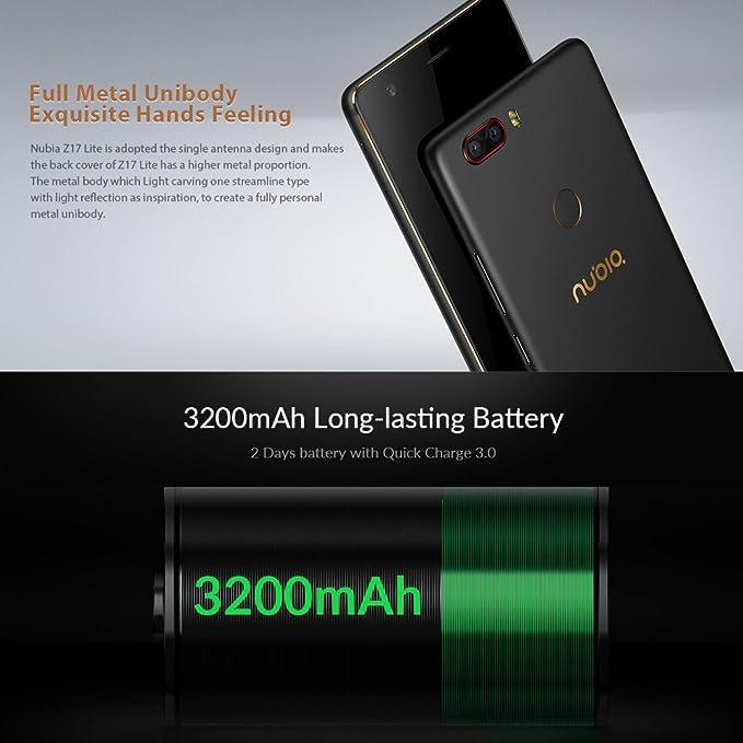 "ZTE Nubia Z17 Lite Octa-Core 4G Smartphone libre de 5.5"" [1920 ..."