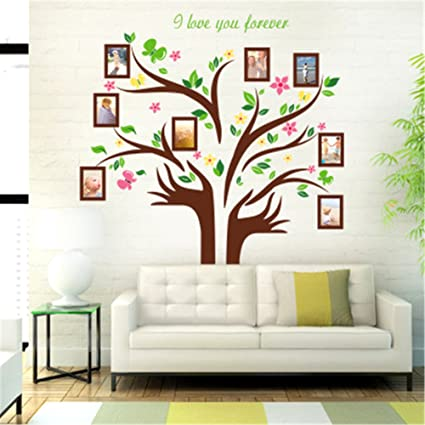 d15448994 Large Family Tree Wall Decor Family Tree Picture Frames Wall Decal Mural  Wallpaper Peel and Stick