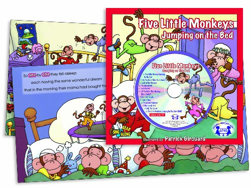 Five Little Monkeys Jumping on the Bed (Book & CD) (Read & Sing Along) (Five Little Monkeys Jumping On The Bed Cd)