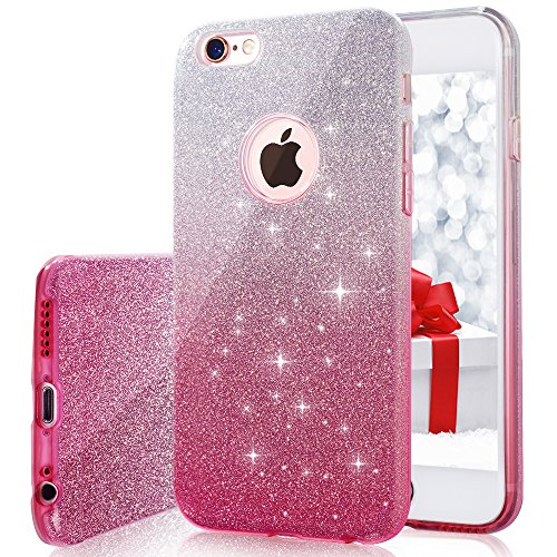 iPhone 6s / 6 plus Case Milprox Bling Luxury Glitter Pretty sparkle Cute 3 Layer Hybrid Anti-Slick / Protective / Soft slim TPU Case for durable girls / women 5.5