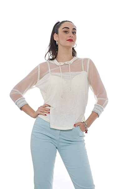 With Pepe co A Women's Tulle DetailAmazon And Patrizia Hood Jersey wPnX0Ok8