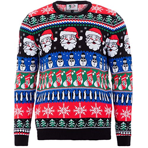 British Christmas Jumpers Men's Sparkle Eco Christmas Jumper Sweater