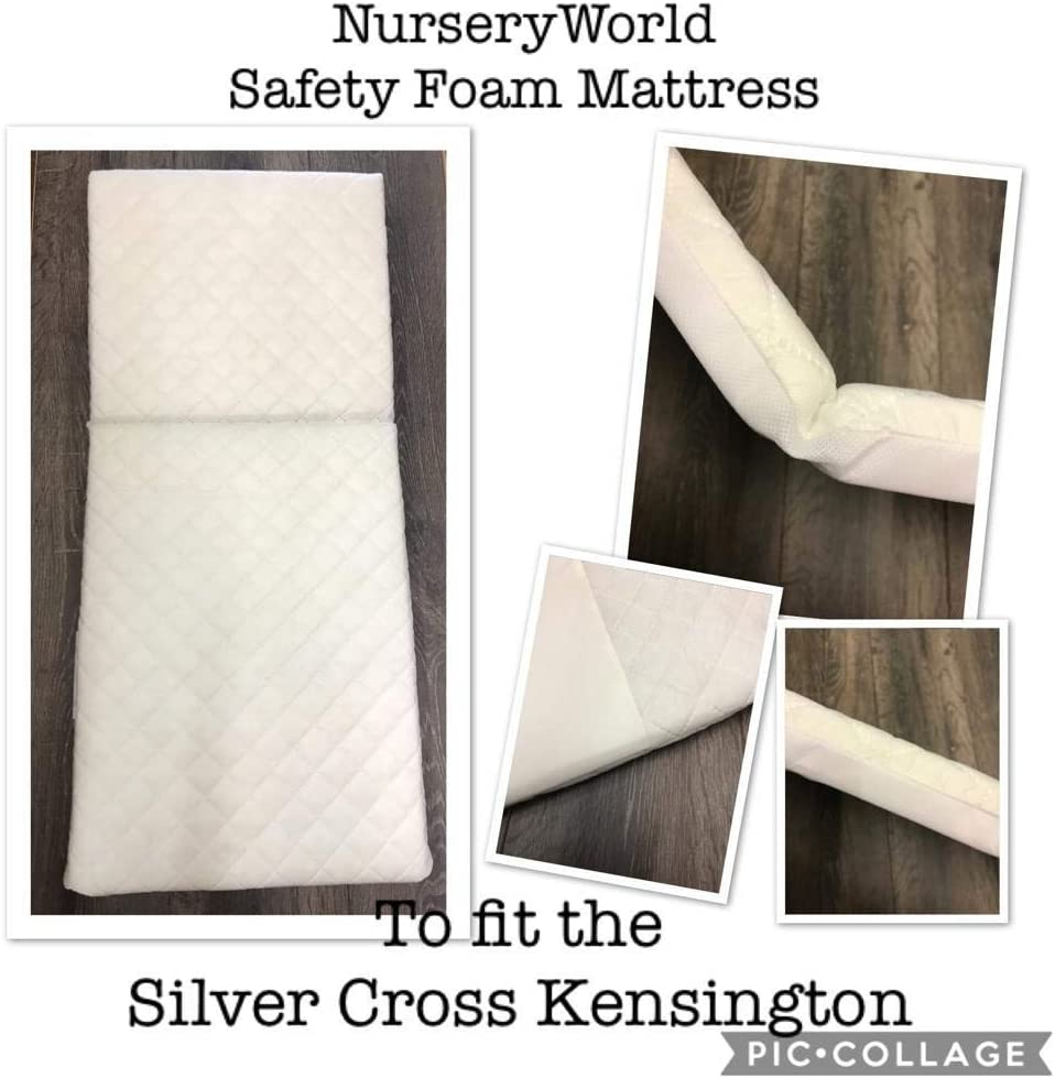 COACH PRAM DELUXE SAFETY MATTRESS for Silver Cross Kensington FULLY BREATHABLE