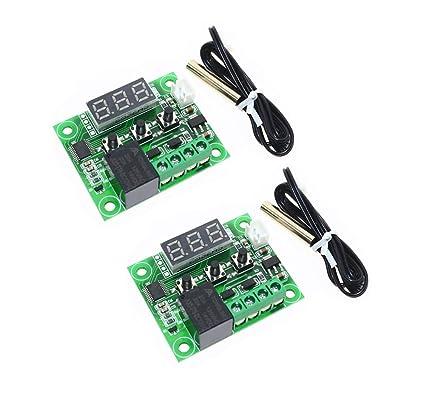 50-110°C W1209 Digital thermostat Temperature Control Switch 12V sensor