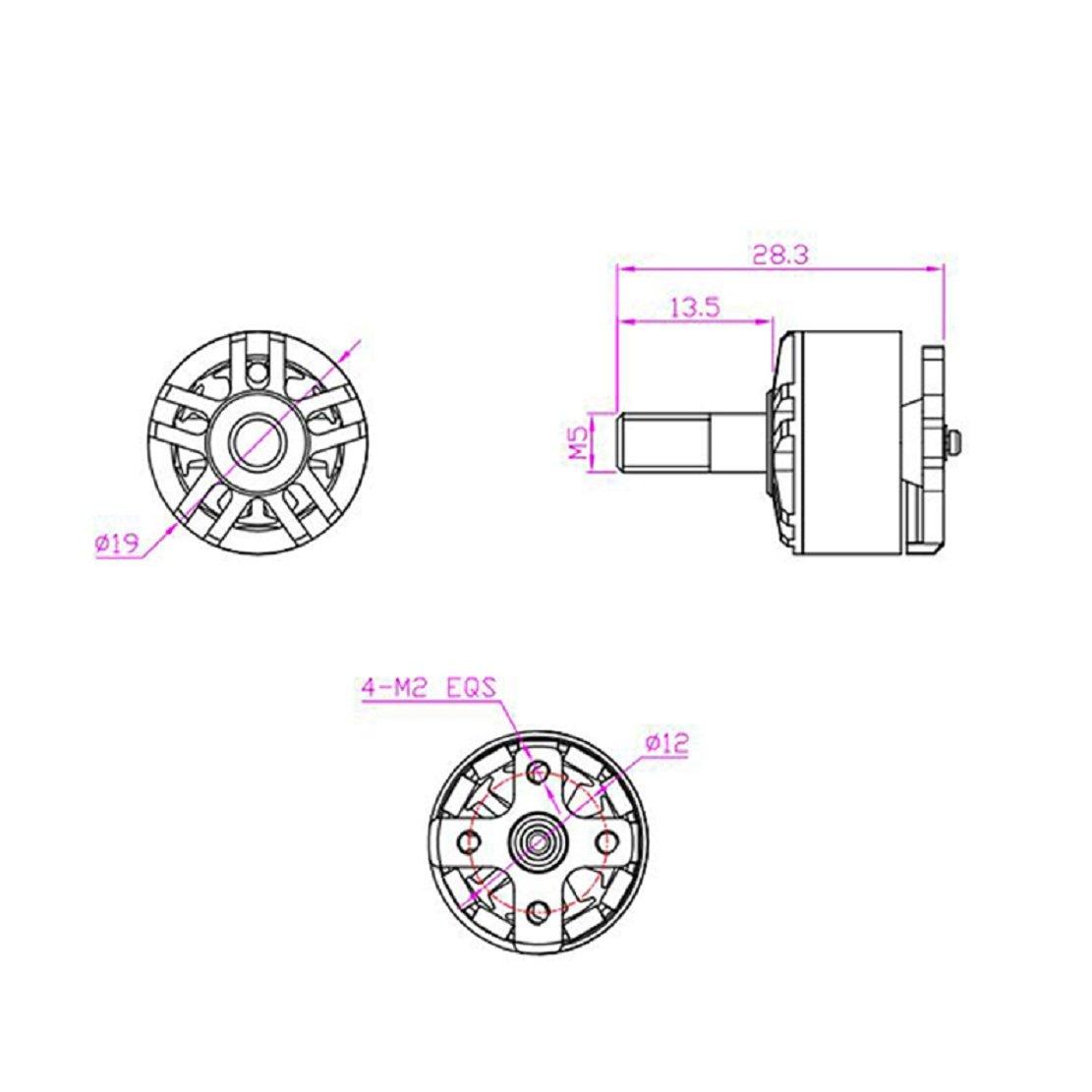 bdfc6285123107 ... 4 PCS HGLRC Flame 1407 Brushless Motor 3600KV 3-4S Blue Motor for FPV  Multicopter ...