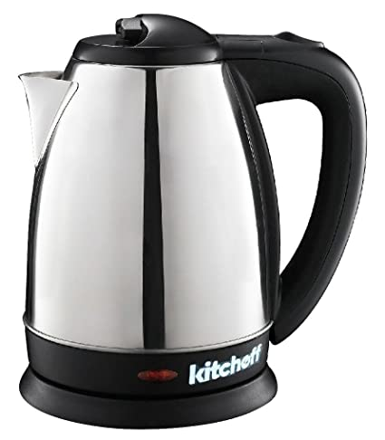 Kitchoff Stainless Steel Multipurpose Automatic Electric Kettle for Home, 1.8L, Standard (Silver, Kl3)