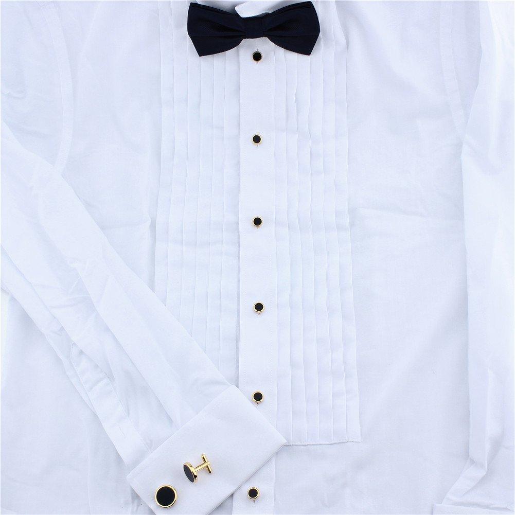 HAWSON Gold Cufflinks and Tuxedo Studs Set for Mens Wedding Business by HAWSON (Image #4)