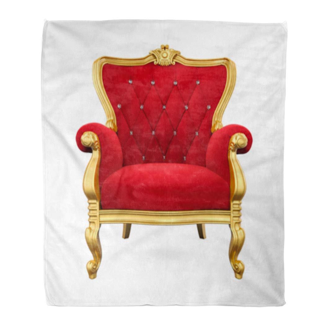 Sensational Golee Throw Blanket Red King Throne Chair 3D Rendering Armchair Royalty Royal Vintage 50X60 Inches Warm Fuzzy Soft Blanket For Bed Sofa Gmtry Best Dining Table And Chair Ideas Images Gmtryco