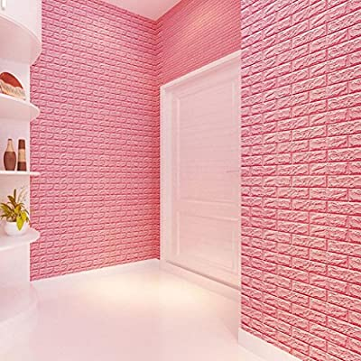 Brick Stone Wallpaper,Han Shi PE Foam 3D DIY Wall Stickers Wall Decor Embossed Art Murals