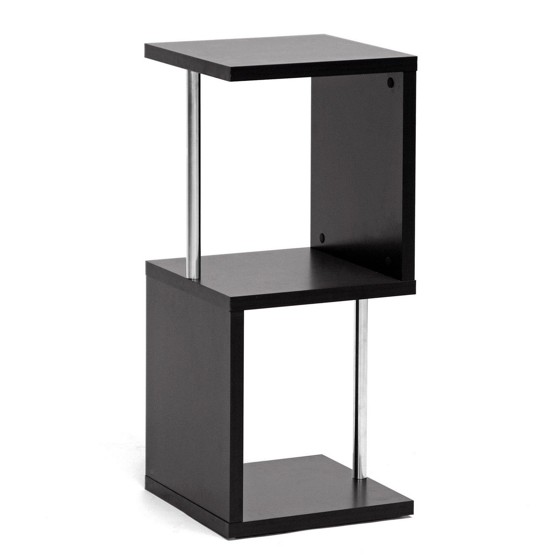 Superbe Amazon.com: Baxton Studio Lindy 2 Tier Modern Display Shelf, Dark Brown:  Kitchen U0026 Dining