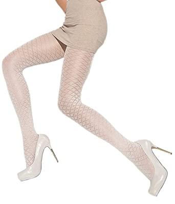 9bcdb72fdf7 Delicate opaque pantyhose beautiful pattern Knittex at Amazon Women s  Clothing store