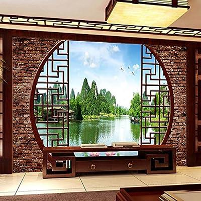 XLi-You 3D Tv Screen Background Wallpaper Modern Chinese Living Room Bedroom Wallpaper Murals Walls