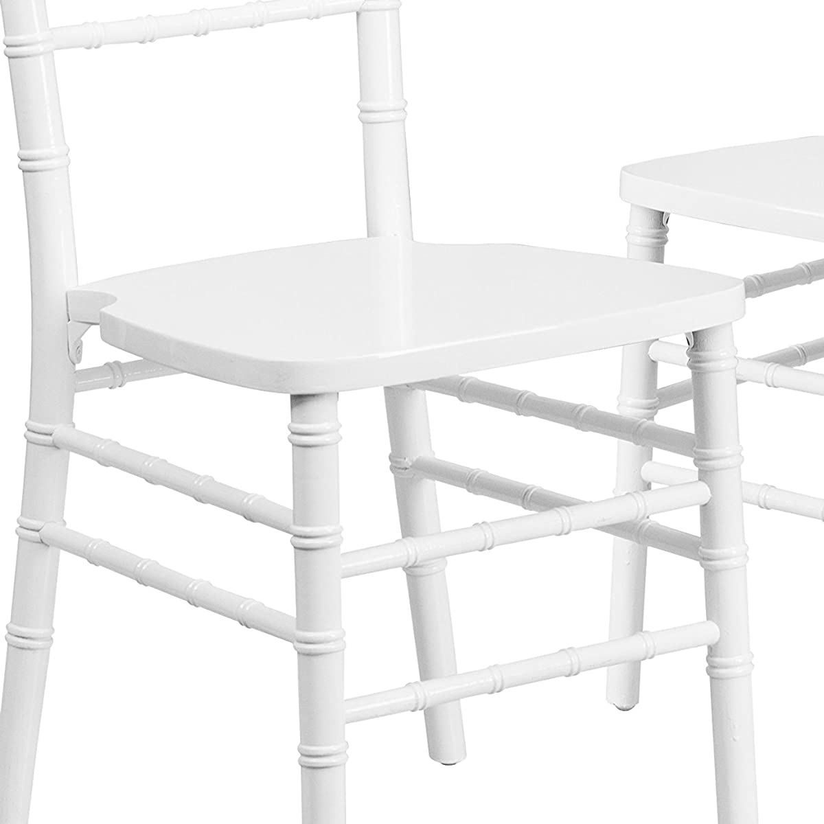 Flash Furniture 2 Pk. HERCULES Series White Wood Chiavari Chair