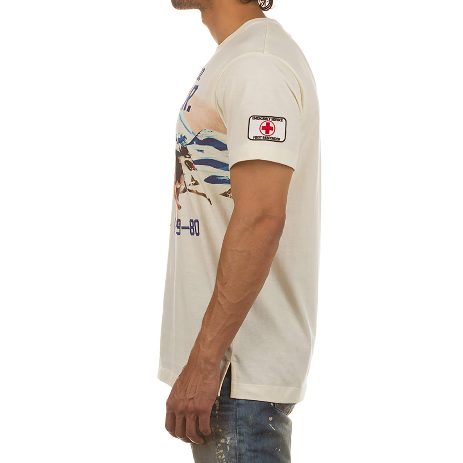 Akoo Patrol and Rescue Short Sleeve Knit Tee in Whisper White 781-9306