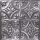 12'' Repeating Victorian Fleur-de-lis Pattern Tin Panel (Unfinished)