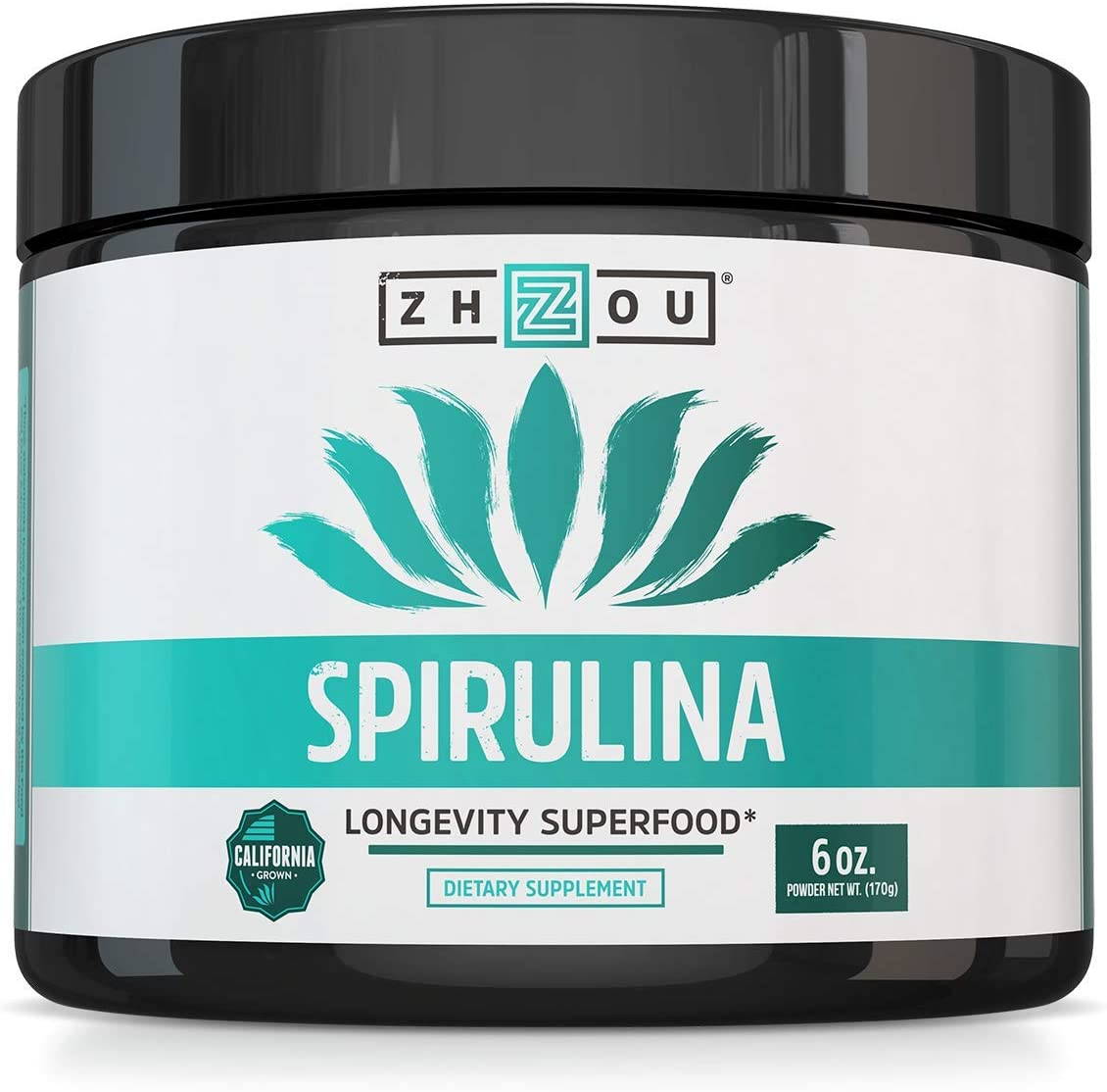 Non-GMO Spirulina Powder – Sustainably Grown in California – Highest Quality Spirulina on Earth – 100 Vegetarian, Gluten Free Non-Irradiated – Blue Green Algae Perfect for Smoothies, Juices More