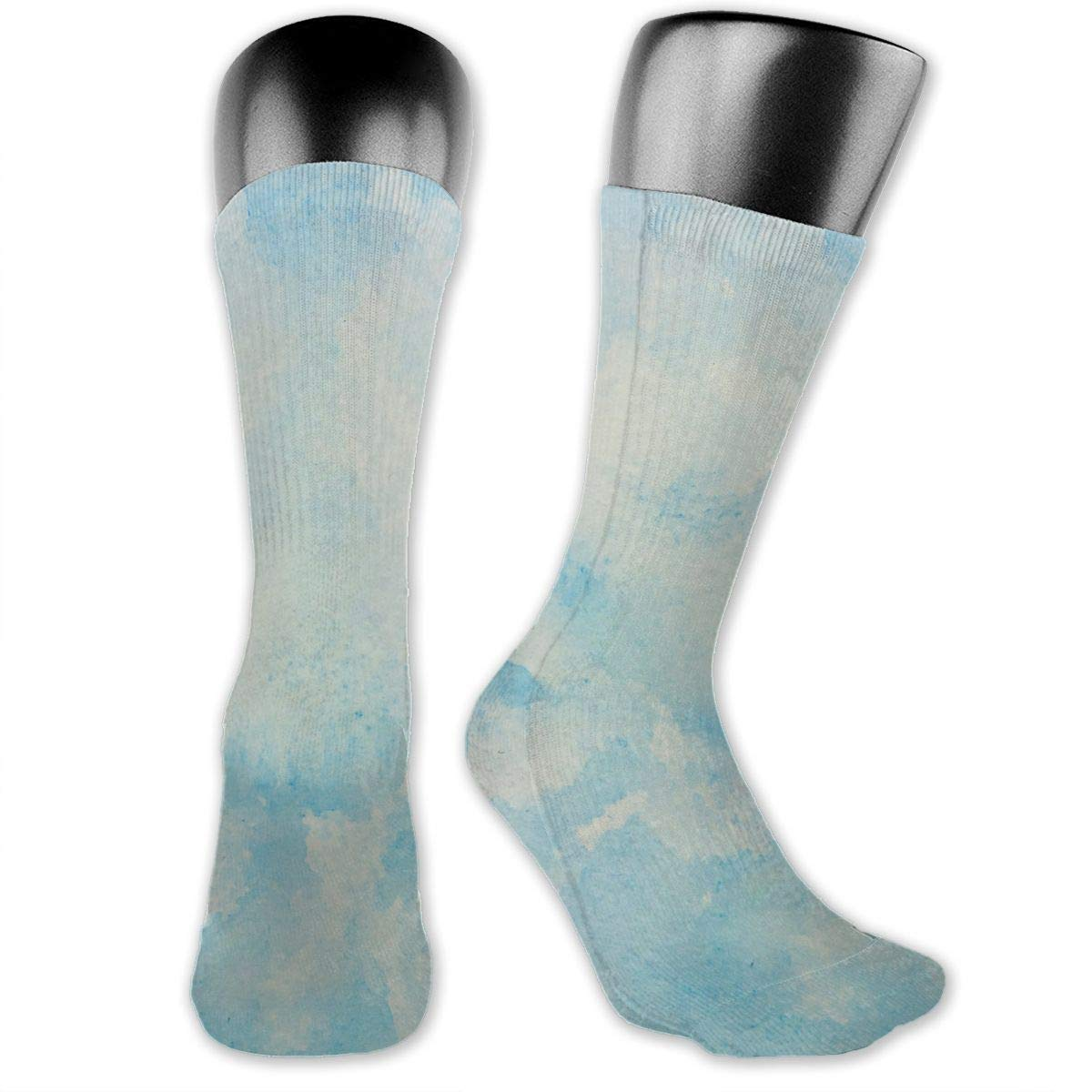 OLGCZM Blue Sky Watercolor Men Womens Thin High Ankle Casual Socks Fit Outdoor Hiking Trail